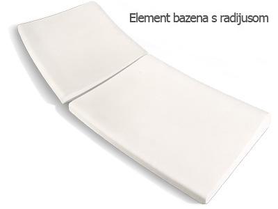 Element bazena sa radijusom