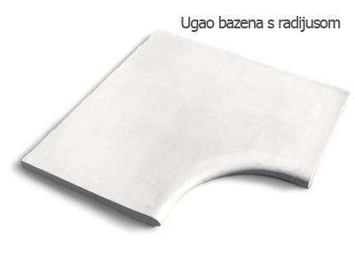 Element bazena ugaoni sa radijusom